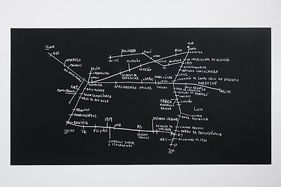 "Map exhibited in ""Campo Geral"", Galeria Central - São Paulo/SP, 2015. Curated by Marta Ramos-Yzquierdo. Photo by Isadora Brant)."